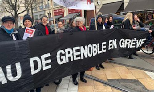 Les avocats grenoblois dans la manifestation interprofessionnelle